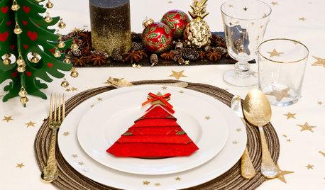 Houzz-TV: Sådan folder du julens flotte servietter trin for trin