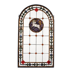 "Meyda Lighting 17367 23""W x 40""H Lamb of God Stained Glass Window"