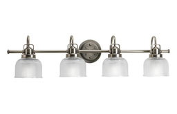Progress Lighting 4-100W Medium Bath Bracket, Antique Nickel