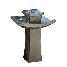 Smart Solar USA - Mahayana 2-Tier Solar-On-Demand Fountain - Outdoor Fountains and Ponds