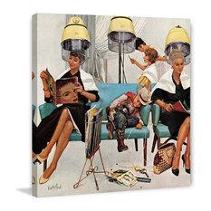 "Marmont Hill Inc. - ""Cowboy Asleep in Beauty Salon"" Print on Canvas by Kurt Ard - Fine Art Prints"