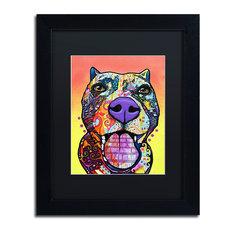 """Dean Russo 'Bark Don't Bite' Framed Art, Black Frame, 11""""x14"""", Black Matte"""