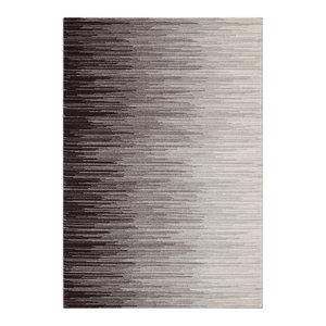 Nova Rectangular Rug, Cream and Black, 120x170 cm
