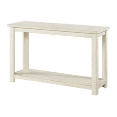Martin Svensson Home Ventura Solid Wood Sofa Console Table Antique White