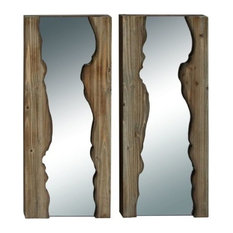 Brimfield & May - Reflections Wooden Wall Mirrors, Set of 2 - Wall Mirrors