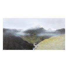 "Extra Large Contemporary Original Art, ""Misty Mountains 2"""
