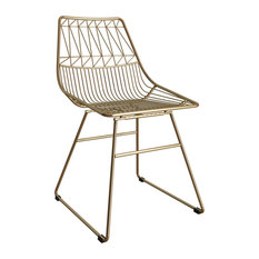 CosmoLiving By Cosmopolitan Astrid Wire Metal Dining Chair Gold