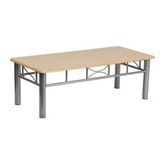 Flash Furniture Coffee Table With Silver Steel Frame