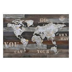 Wanderlust Rustic World Map