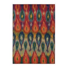 Oriental Weavers Kaleidoscope 2061Z Multi/Red Area Rug 6'7x9'1