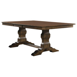Gaston French Country Pine Stone Inset Dining Table Rustic