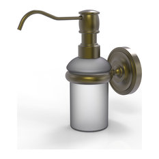 Prestige Regal Wall Mounted Soap Dispenser, Antique Brass