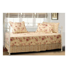 Greenland Home Antique Rose Daybed Set, 5-Piece Daybed