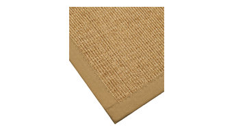 "Banfield (2' 6"" x 8') Sisal Runner, Sage/Khaki Cotton Border, Non-Slip Backing"