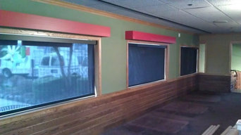 Solar Roller Shades installed at commercial car rental site