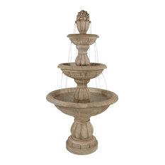 """Sunnydaze 3-Tier Cornucopia Outdoor Backyard Garden Water Fountain, 61"""""""