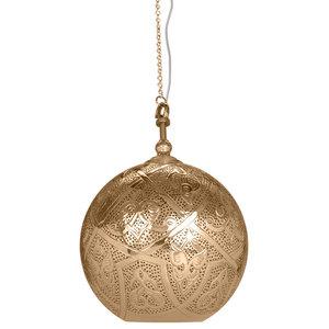 Sahar Brass Hook Pendant With Polished Brass Finish, Small