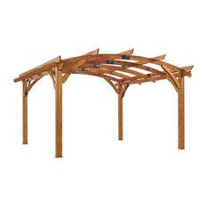 Outdoor Greatroom 16'x16' Redwood Sonoma Wood Pergola Kit
