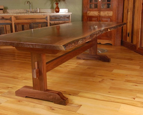 Live Edge Dining Tables With Trestle Base