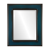 "Montreal Framed Rectangle Mirror in Royal Blue, 25""x29"""