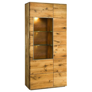 Dallas II Assembled Large Solid Wood Display Cabinet