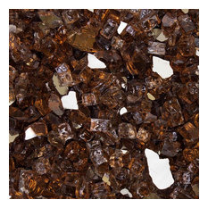 "1/2"" Reflective Tempered Fire Glass, Cosmic Copper, 10 lb. Jar"
