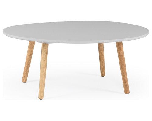Ray Soffbord 40 cm, Grå/Ek - Sofaborde