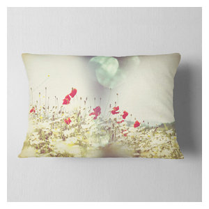 In X 16 In Sofa Throw Pillow 16 In Designart Cu13581 16 16 Big Red Flower Sketch On White Floral Cushion Cover For Living Room Home Kitchen Bedding