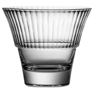 Fluted Lead Crystal Whisky Glasses, Set of 6