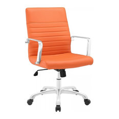 orange leather office chairs | houzz
