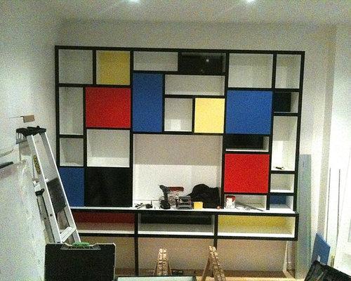 meubles sur mesure piet mondrian pour un espace r duit. Black Bedroom Furniture Sets. Home Design Ideas