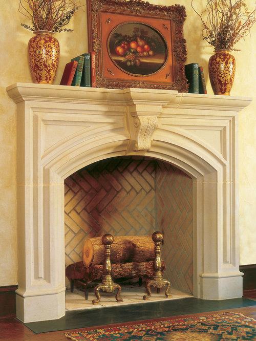 Fremont Cast Stone Fireplace Mantel - Indoor Fireplaces - Cast Stone Fireplace Mantels