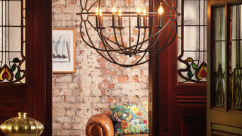 Orbital 8 Light Gyro Ceiling Pendant in Rust