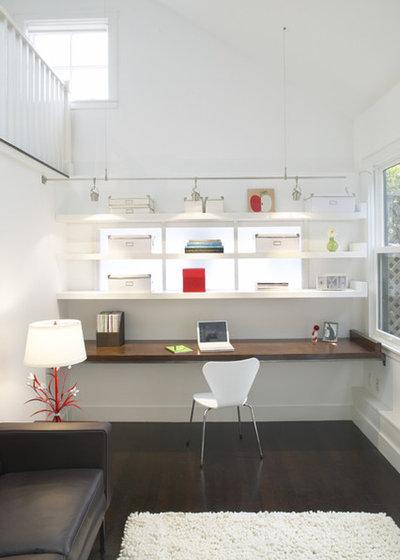 トランジショナル ホームオフィス・書斎 by Feldman Architecture, Inc.