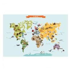 The World Map, Poster Wall Sticker, Medium
