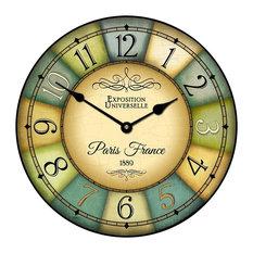 "Paris Expo Wall Clock, 12"""