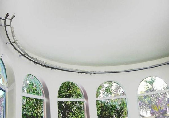 bendable curtain rod for bay windows, showers, rv's, room dividers
