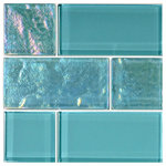 "artistryinmosaics - 12""x12"" Glass Tile Blends Twilight Series, Turquoise - Bring a versatile pop of flare to your home design with the beautiful, functional 12""x12"" Glass Tile. Each piece is crafted for durability and designed to be maintenance-free and frost-proof. This glass mosaic brings artistry to interior or exterior surfaces like swimming pools, backsplashes, countertops or floors. Outfit your home with quality fittings that highlight your vibrant style."