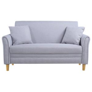 vidaXL 2-seater Sofa Fabric Dark Gray - Midcentury - Sofas - by vidaXL