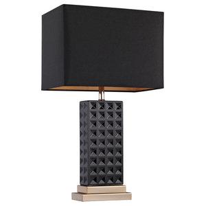 Black Stud Ceramic Lamp