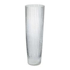 Lazy Susan Ice Fizz Fluted Vase, Clear