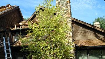 Treated, Heavy-Duty Cedar Shake Shingle Roof   Olentangy River Road Columbus, Oh