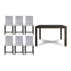 Hudson 7 Piece Cafe Table & Chair Set