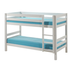 Pino Low Bunk Bed, White