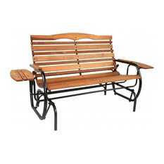 jack post jack post country garden glider bench with trays outdoor gliders