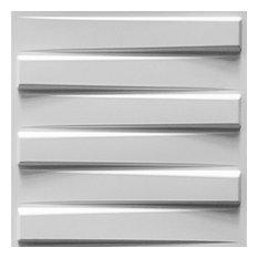 "19 5/8""W x 19 5/8""H Keyes EnduraWall Decorative 3D Wall Panel, White"