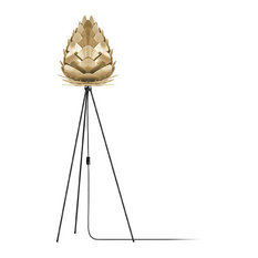 "Conia 63"" Tripod Floor Lamp, Black/Brushed Brass"