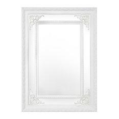 Argyle Mirror, White, 75x105 cm