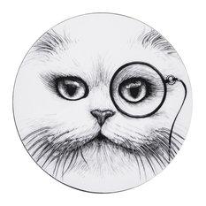Cat Monocle Coasters, Set of 4