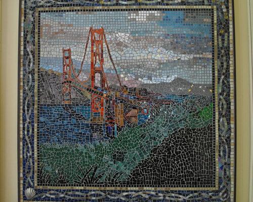San Francisco Golden Gate Bridge Mosaic